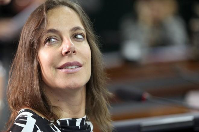 Imagem do rosto da deputada Mara Gabrilli, na Câmara dos Deputados em Brasilia.